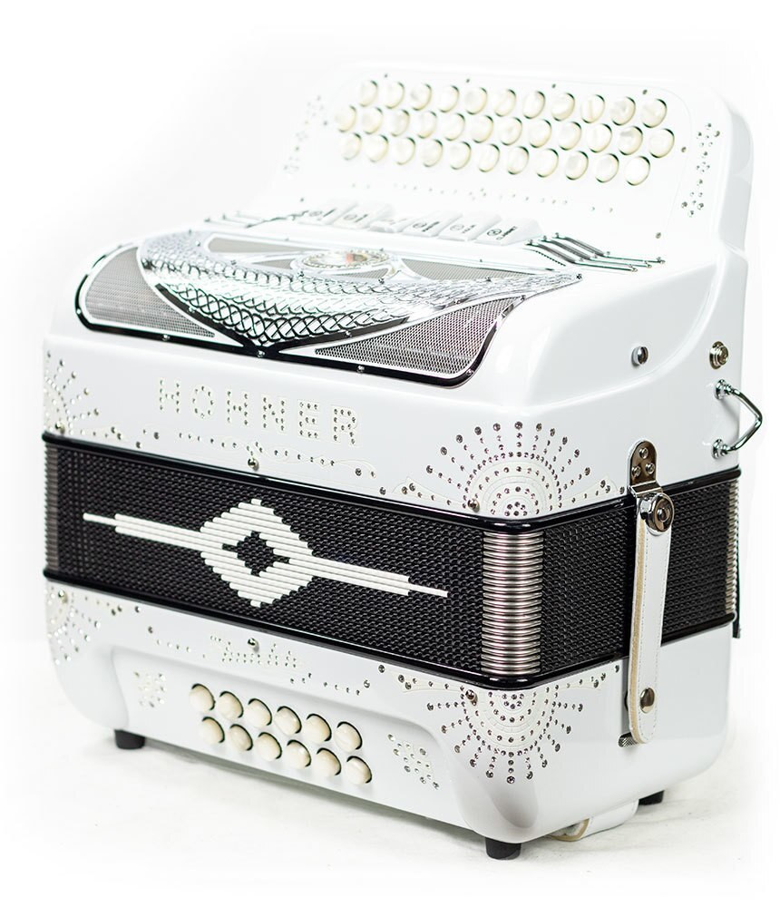 Hohner Hohner Norteno Two Tone FBE/EAD Compact White/Chrome