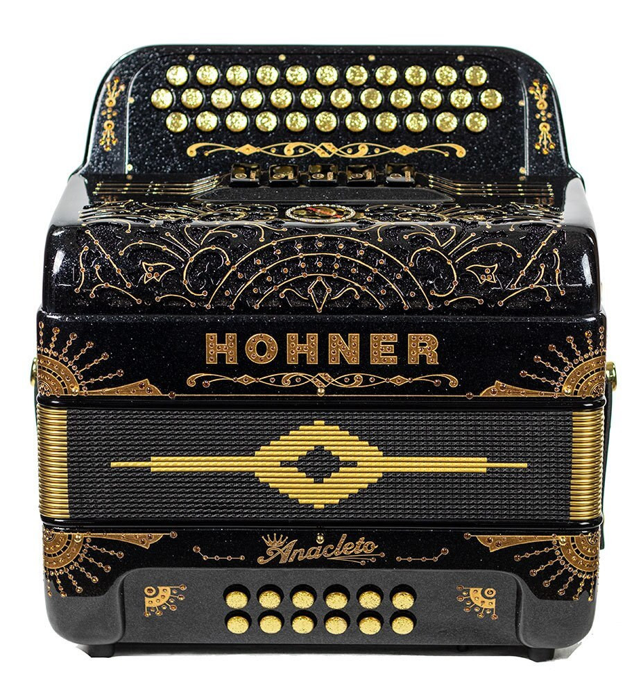Hohner Hohner Rey Del Norte III Compact 5 switch 34 button, EAD Space Black