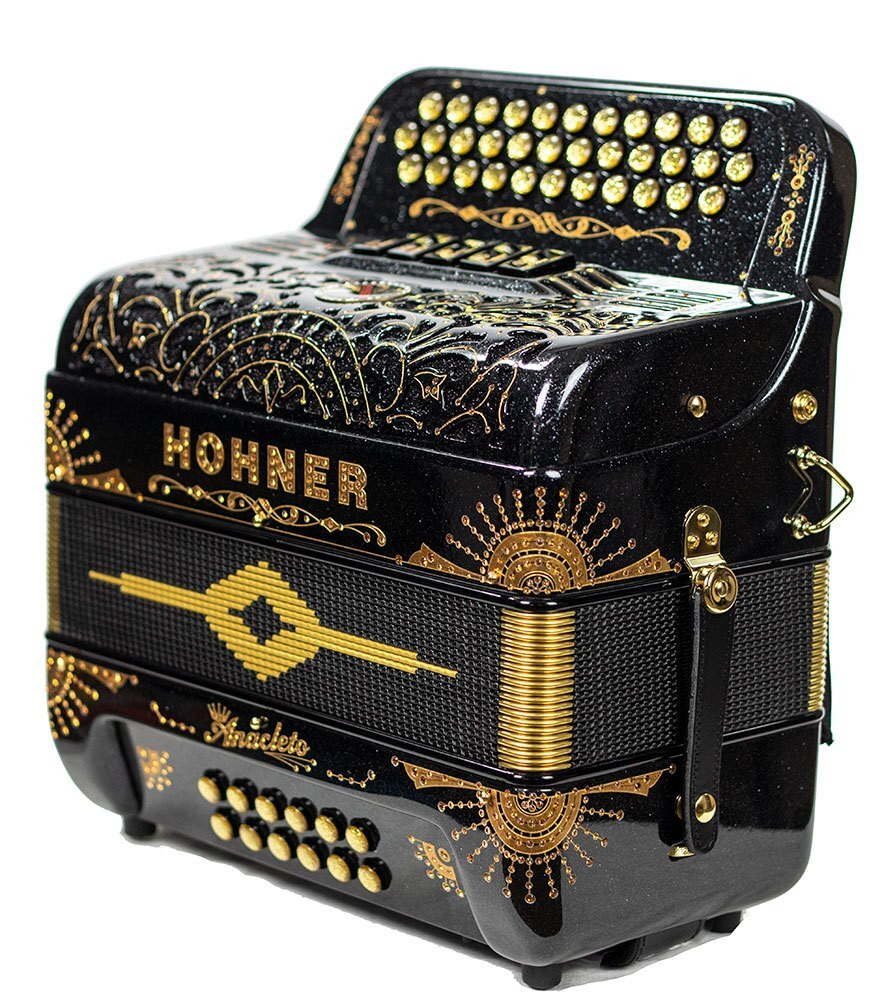 Hohner Hohner Anacleto Rey Del Norte III Compact 5 switch 34 button, FBE - Space Black