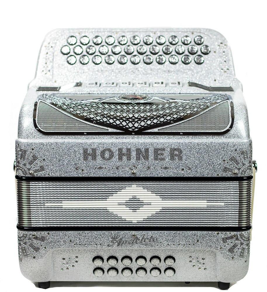 Hohner Hohner Anacleto Rey Del Norte Two Tone Compact FBE/GCF Silver Glitter