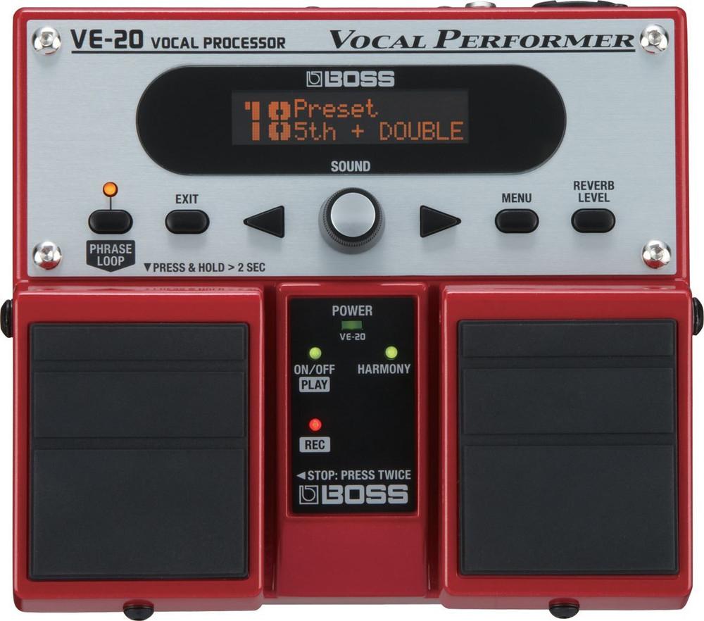 Boss Boss VE20 Vocal Performer Twin Pedal