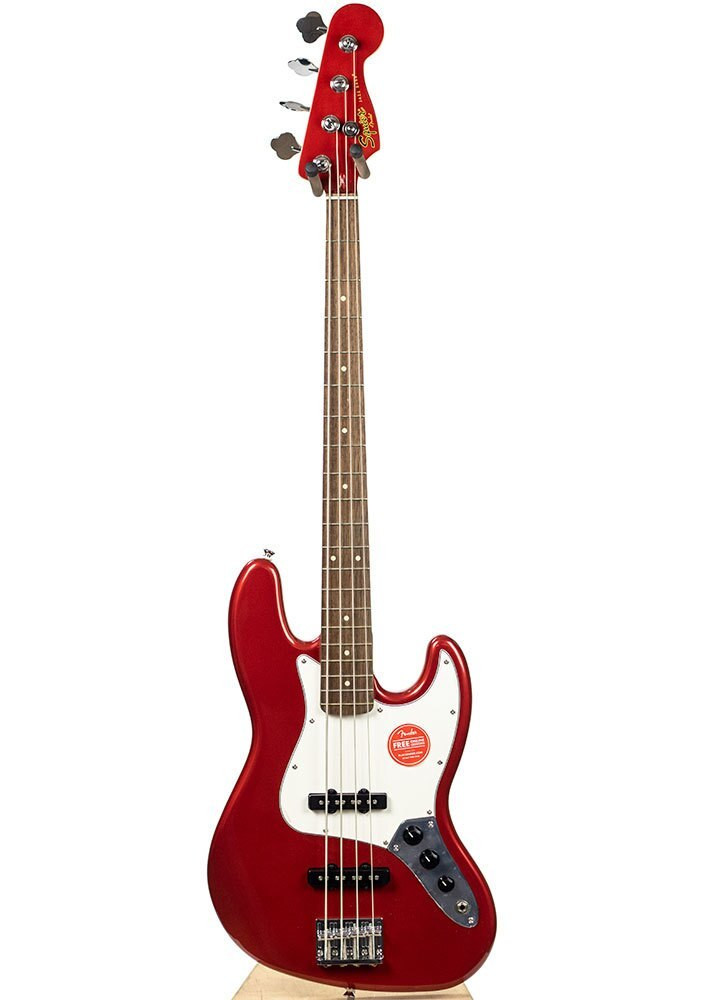 Squier B-Stock Contemporary Jazz Bass, Laurel Fingerboard, Dark Metallic Red