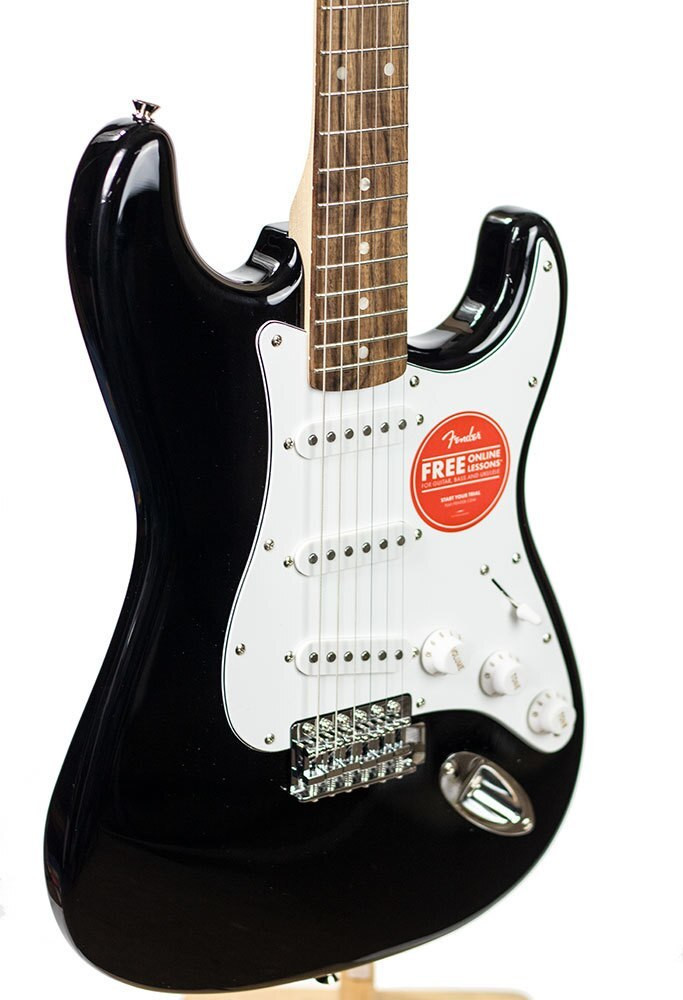 Squier B-Stock Squier Affinity Series Stratocaster, Laurel Fingerboard, Black