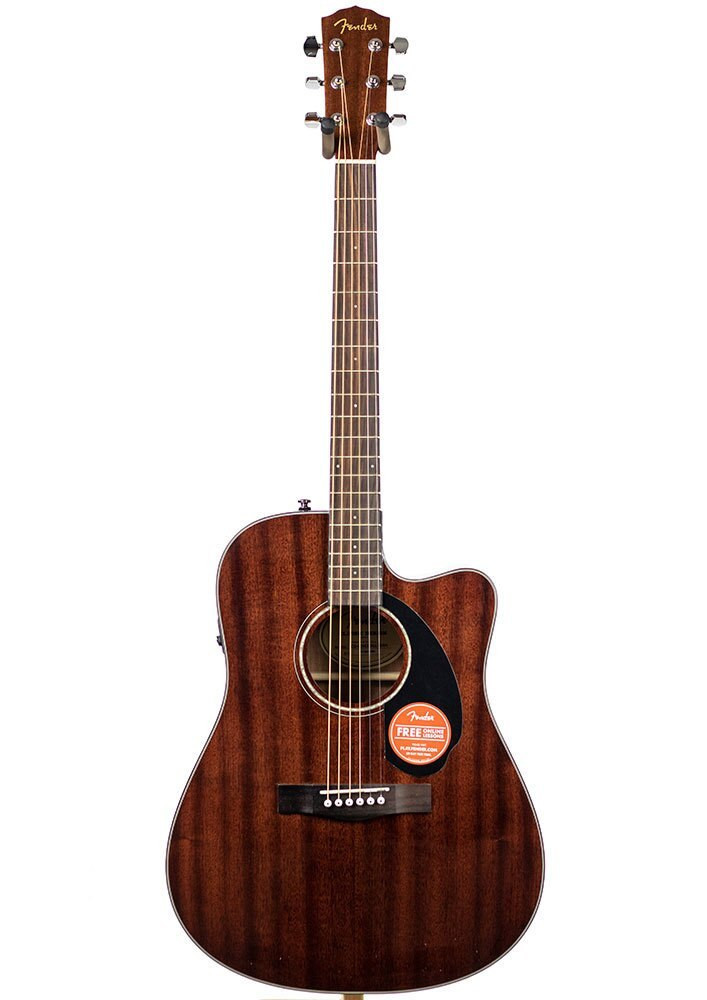 Fender B-Stock Fender CD-60SCE All-Mahogany Dreadnought Acoustic-Electric Guitar