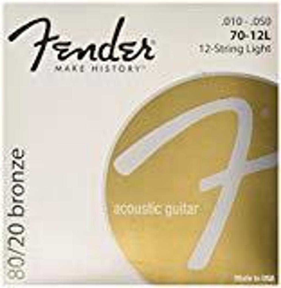 Fender Fender 80/20 Bronze Acoustic Guitar Strings, Light