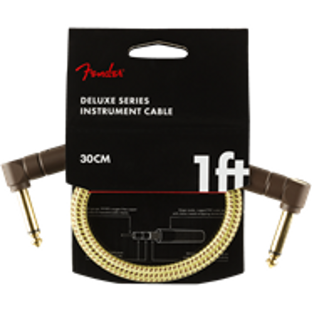 Fender Deluxe Series Instrument Cable, Angle/Angle, 1, Tweed