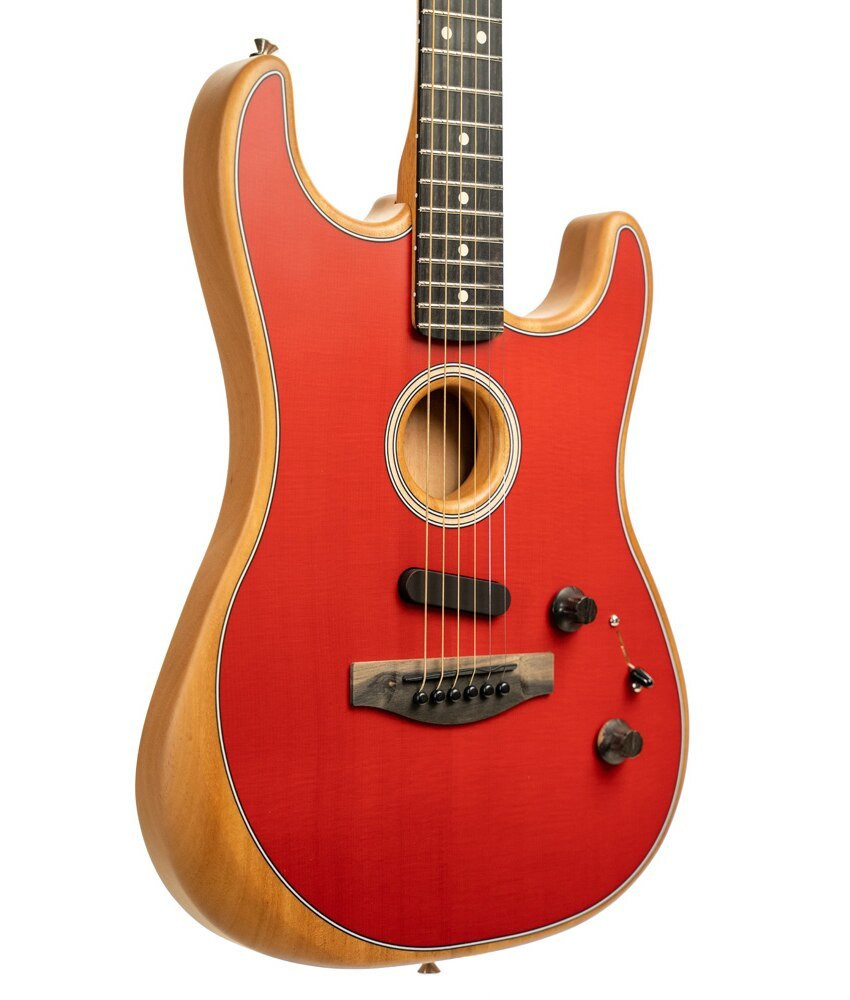 Fender Fender American Acoustasonic Strat, Ebony Fingerboard - Dakota Red