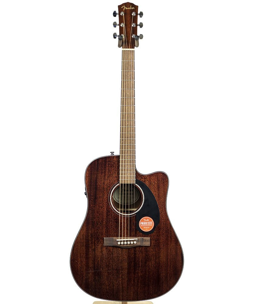 Fender B-Stock Fender CD-60SCE All-Mahogany Dreadnought Acoustic-Electric Guitar 3022