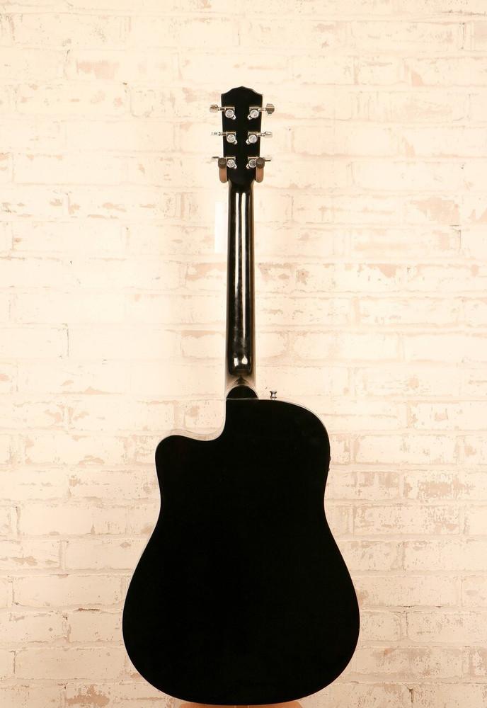 Fender Acoustic Guitars Fender CD-140SCE A/E Black Dreadnought Cutaway Spruce Top