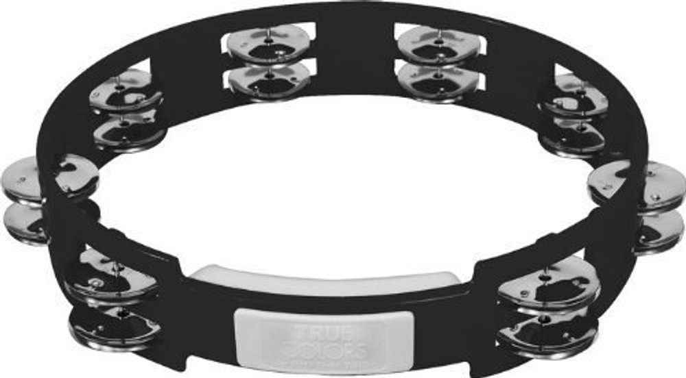 True Color 10 Double Row Tambourine Black TC4010