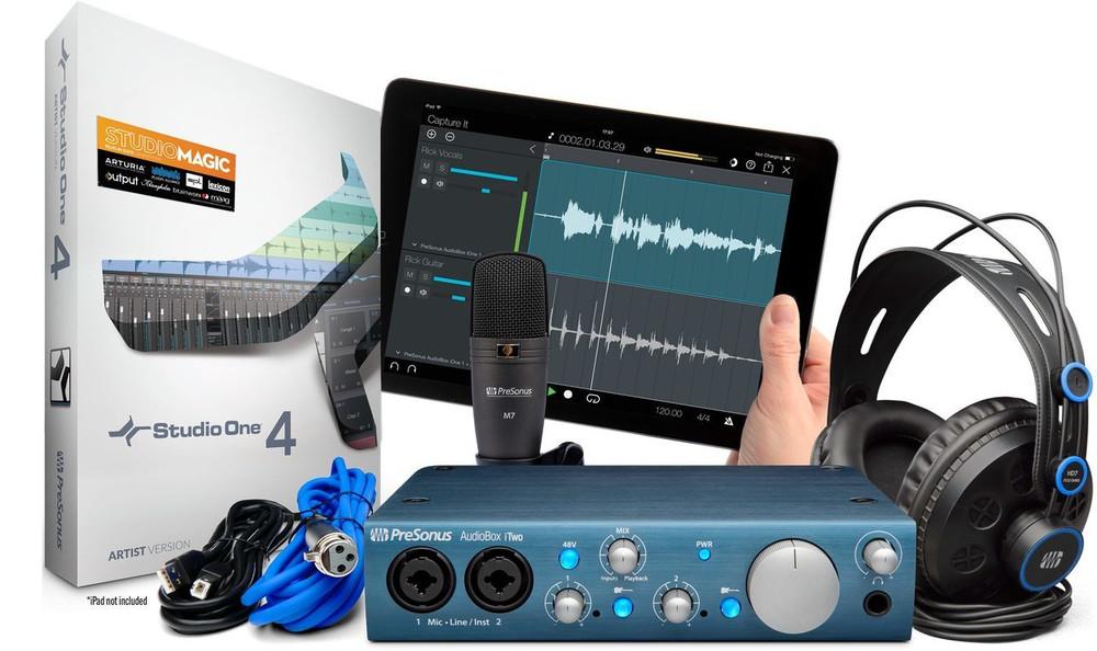 PreSonus PreSonus AudioBox iTwo Studio, HD7 Headphones, M7 Microphone, Studio One Artist