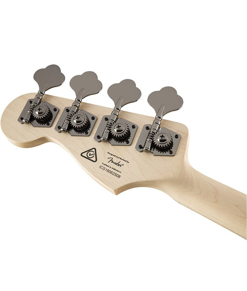 Squier Squier Contemporary Active Jazz Bass HH, Maple Fingerboard, Flat Black