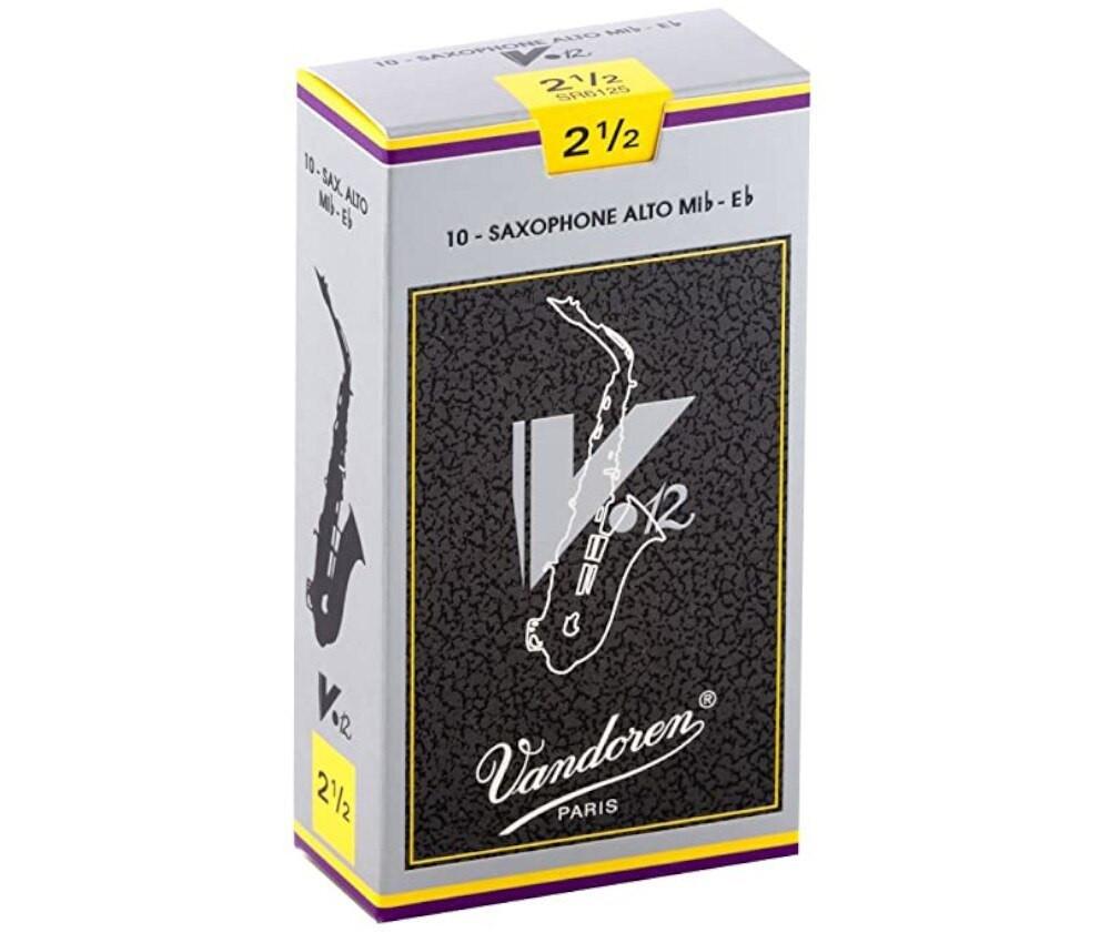 Vandoren Vandoren V12 #2.5 Alto Sax Reeds 10 pack