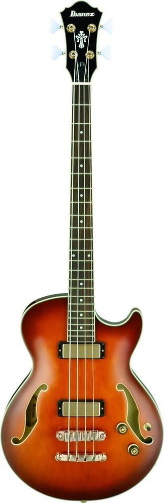 Ibanez Ibanez AGB200VLS Semi Hollow 4 String Electric Bass Guitar in Violin Sunburst