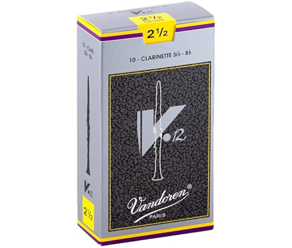 Vandoren Vandoren V12 #2.5 Bb Clarinet Reed 10 pack