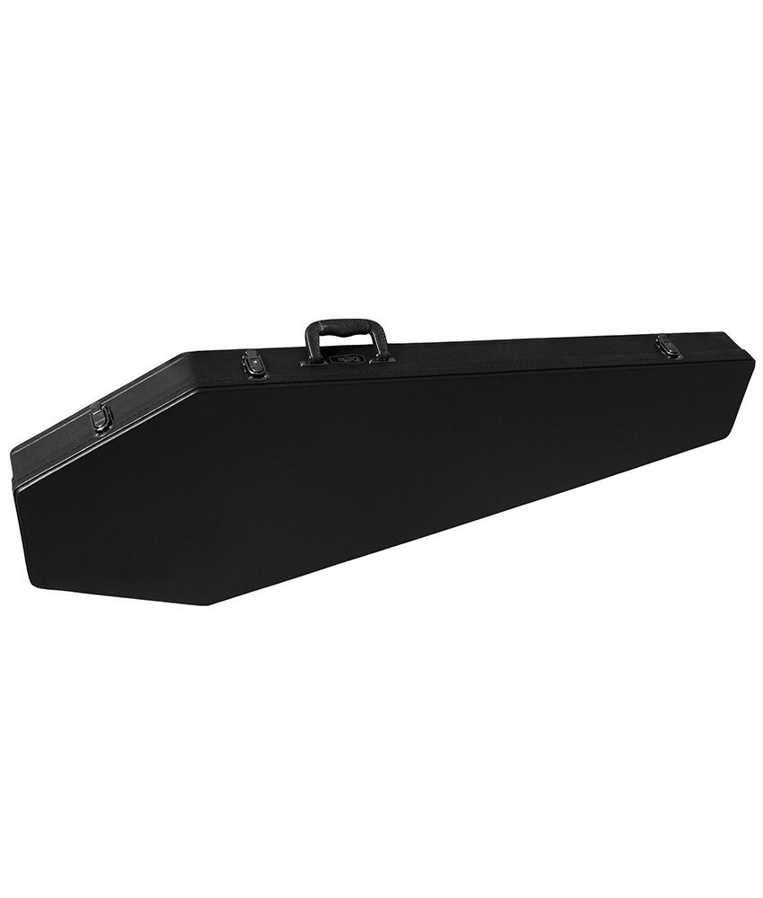 Coffin Case Co Coffin Bass Guitar Case Black - Red Velvet Interior