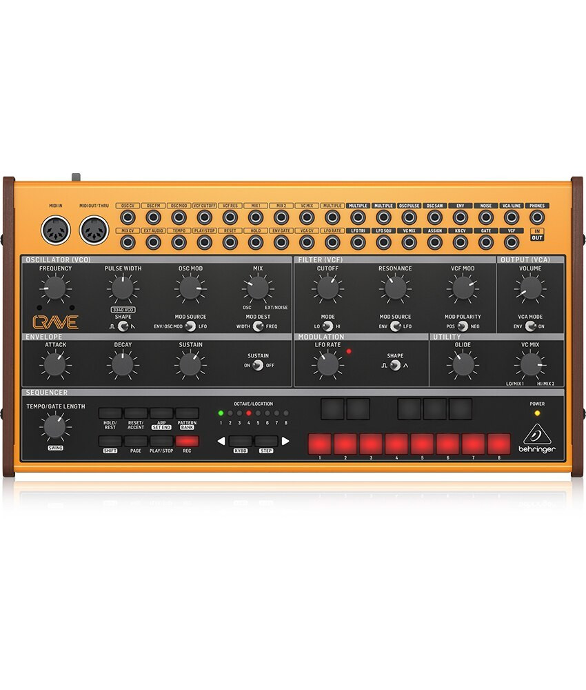Behringer Behringer CRAVE Analog SemiModular Synthesizer, 32-Step Sequencer