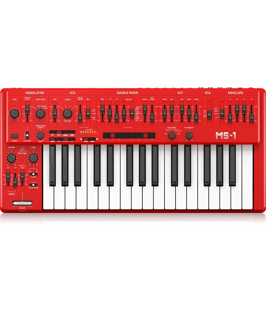 Behringer Behringer MS-1-RD Analog Synthesizer with Handgrip - Red