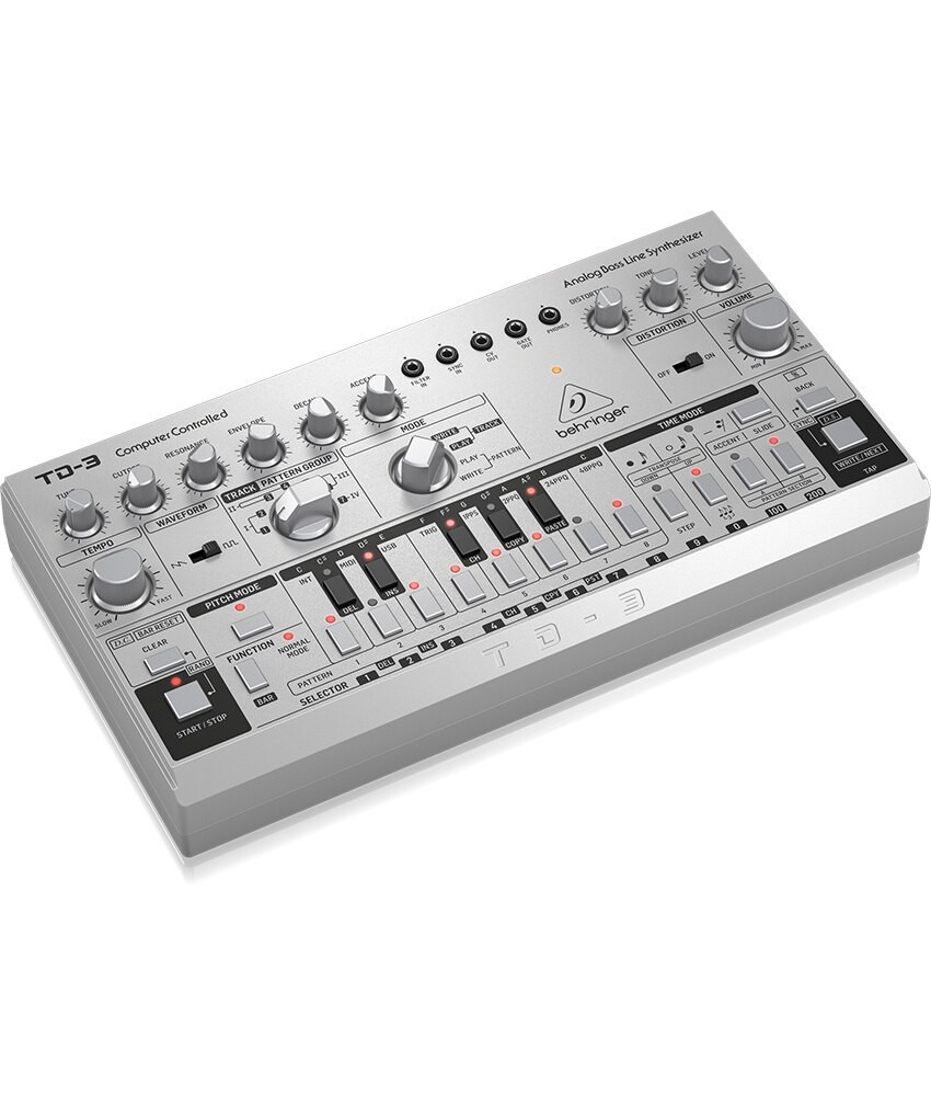 Behringer Behringer TD-3-SR Analog Bass Line Synthesizer - Silver