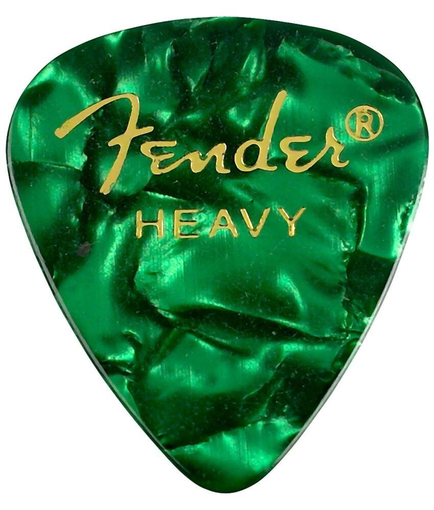 Fender Fender 351 Heavy Green Celluloid Guitar Picks 12 pack