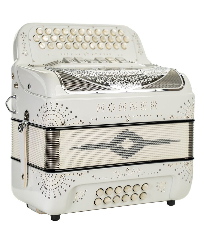 Hohner Hohner Norteno TT FBbEb/GCF Compact Accordion, White