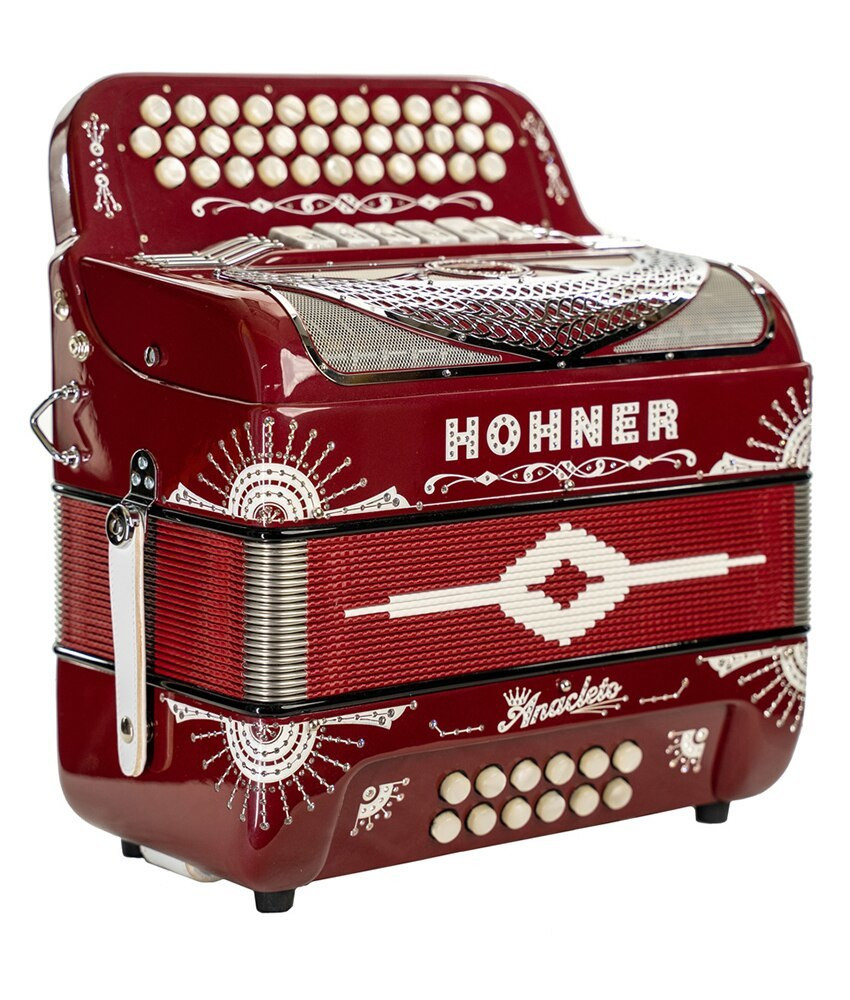 Hohner Hohner Norteno Two Tone Compact FBE/GCF, Red
