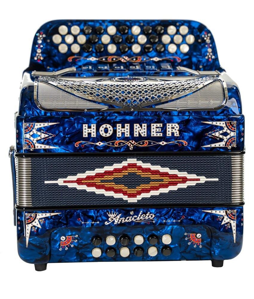 Hohner Hohner Norteno Two Tone Compact FBE/GCF, Pearl Blue