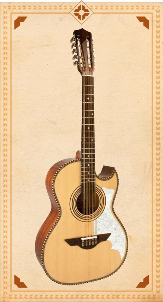 H Jimenez H Jimenez LBQ2E El Musico The Musician Bajo Quinto Acoustic-Electric Guitar