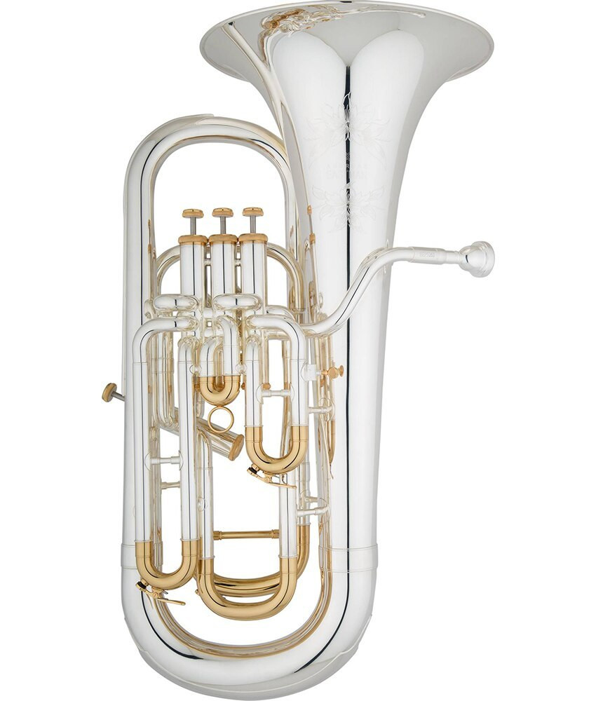 Eastman Eastman Pro Bb Euphonium Silver w/ Gold Plated Slides EEP526, w/ Case