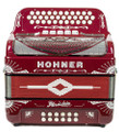 Hohner Hohner Rey Del Norte III Compact 5 switch 34 button, FBE Red
