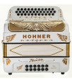 Hohner Hohner Rey Aguila III Compact 5S EAD White and Chrome Grille w/Binci Reeds
