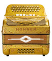 Hohner Hohner Norteno Two Tone Compact FBE/GCF, Holographic Gold