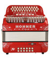 Hohner Hohner Stellar 2020 Limited Edition FBE/EAD Compact, Red, Manetti Reeds