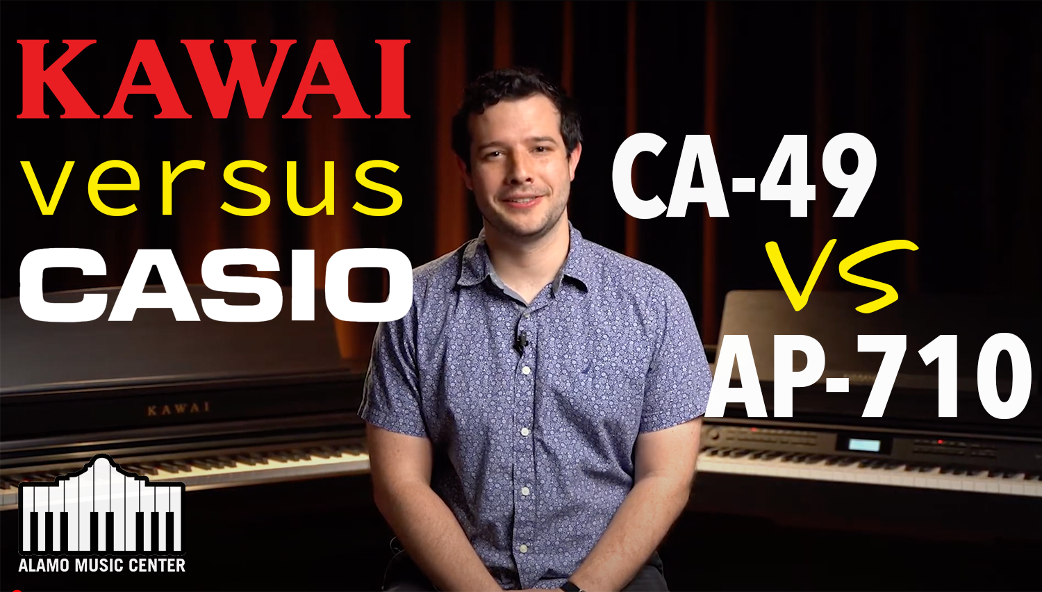 Kawai VS Casio - CA49 compared to AP710 - Digital Piano Look & Listen