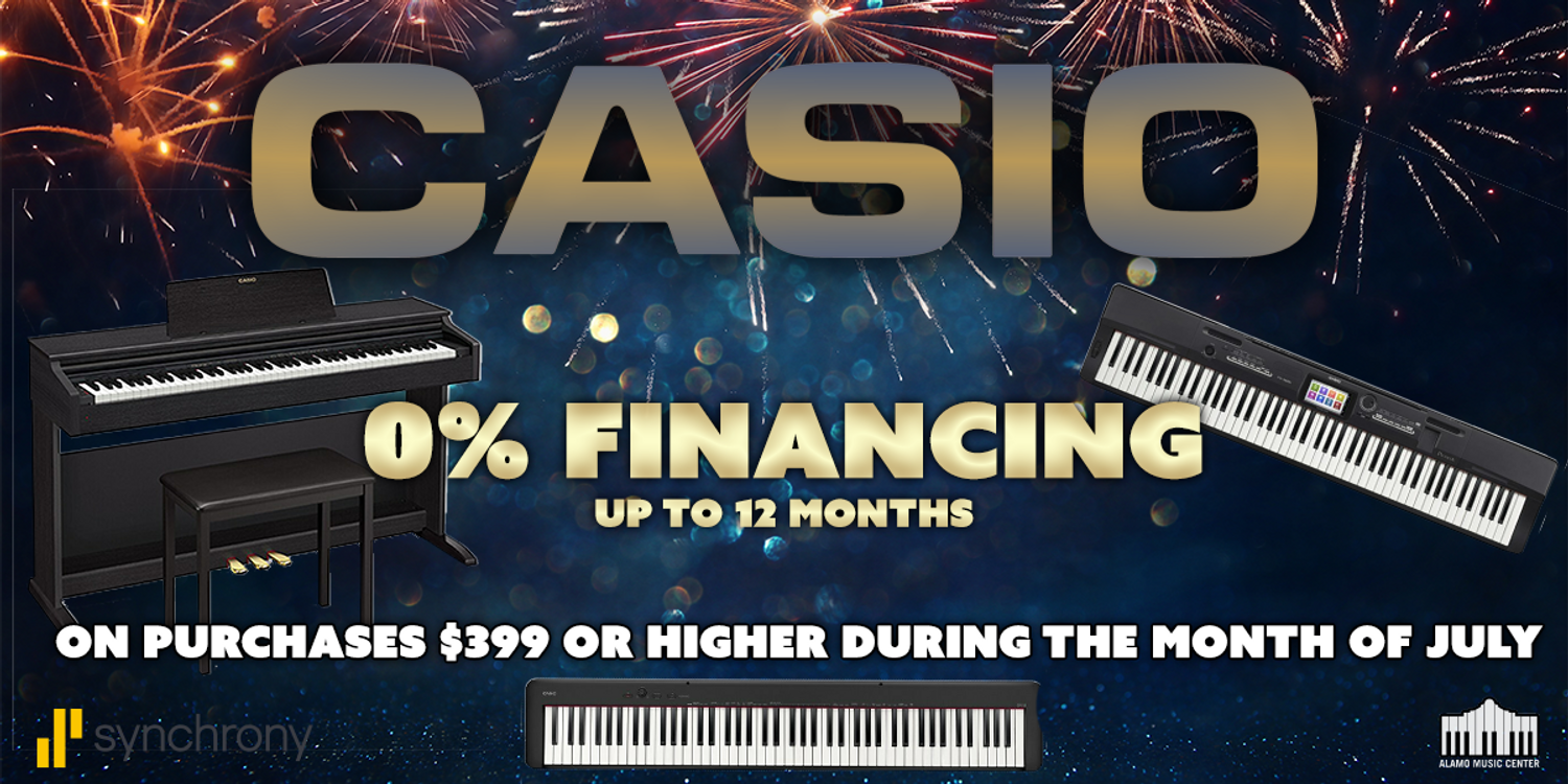 CASIO 0% Financing Up To 12 Months - Ends July 31st