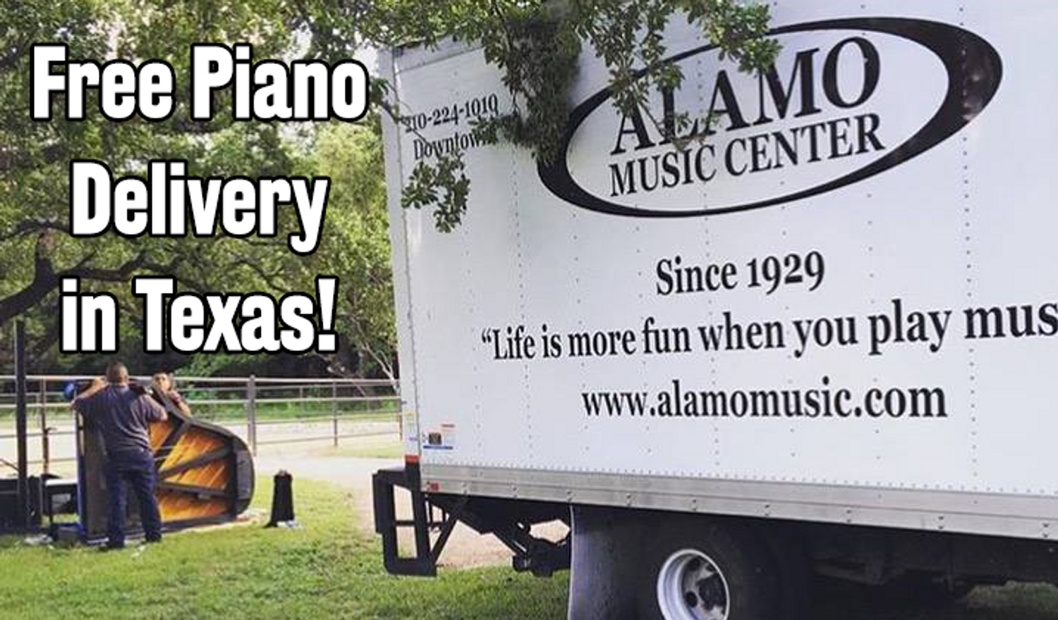 Free Piano Delivery & Tuning in Texas | Alamo Music