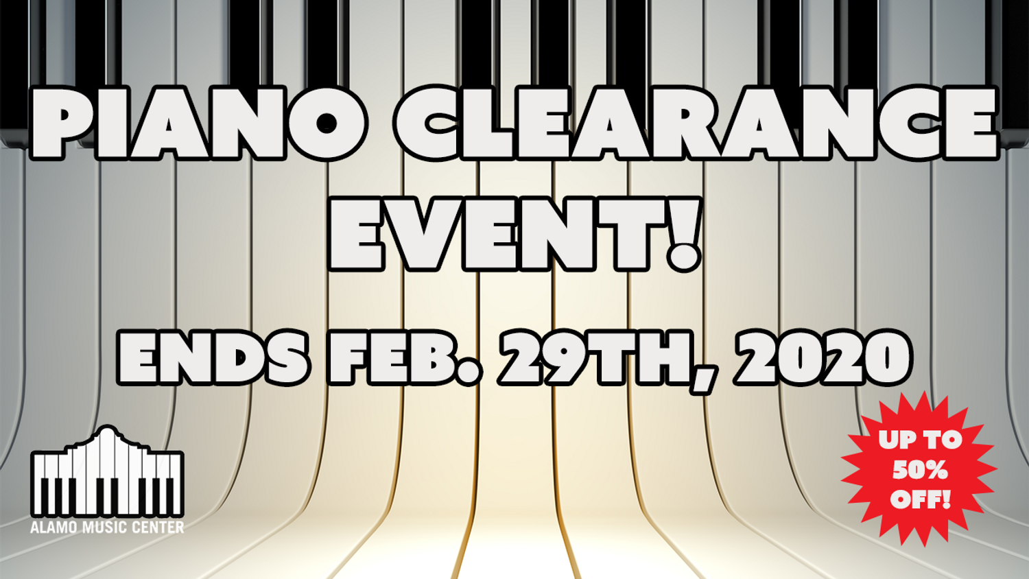 Piano Clearance Event: Ends Feb 29th 2020 - Up to 50% Off!