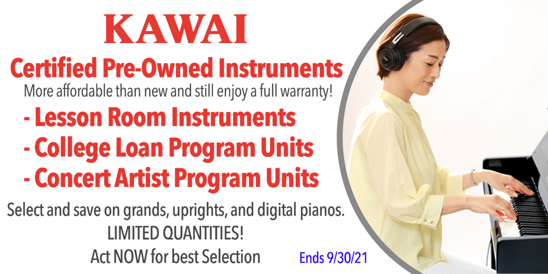 Kawai - Certified Pre-Owned Instruments SALE!