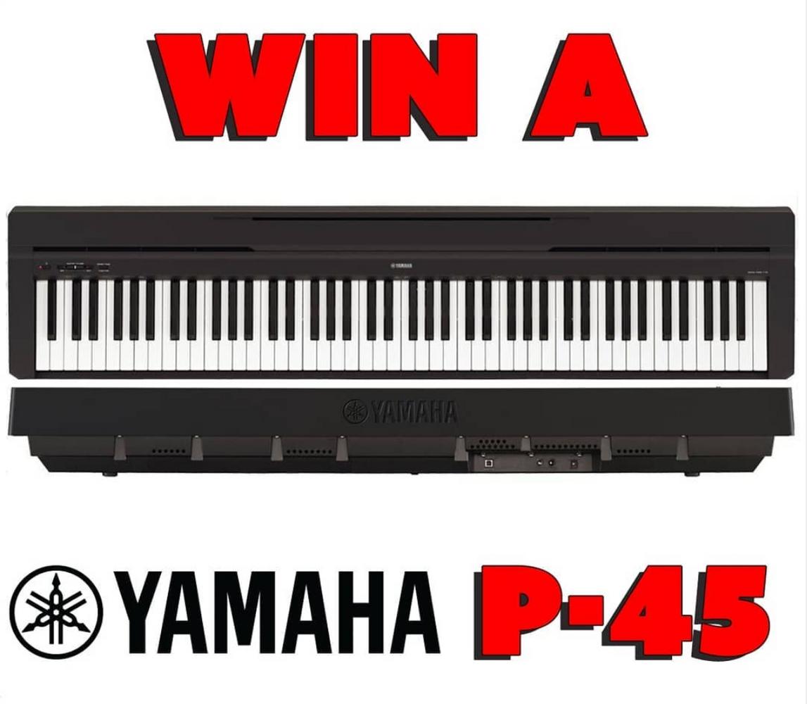 Win a Yamaha P-45 Digital Piano | Alamo Music