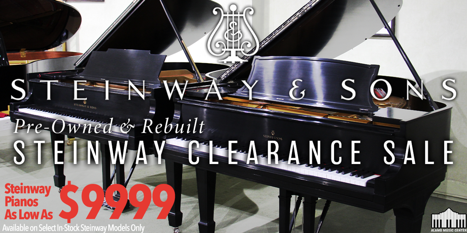 Steinway Grands From $9999 - Steinway Clearance Sale