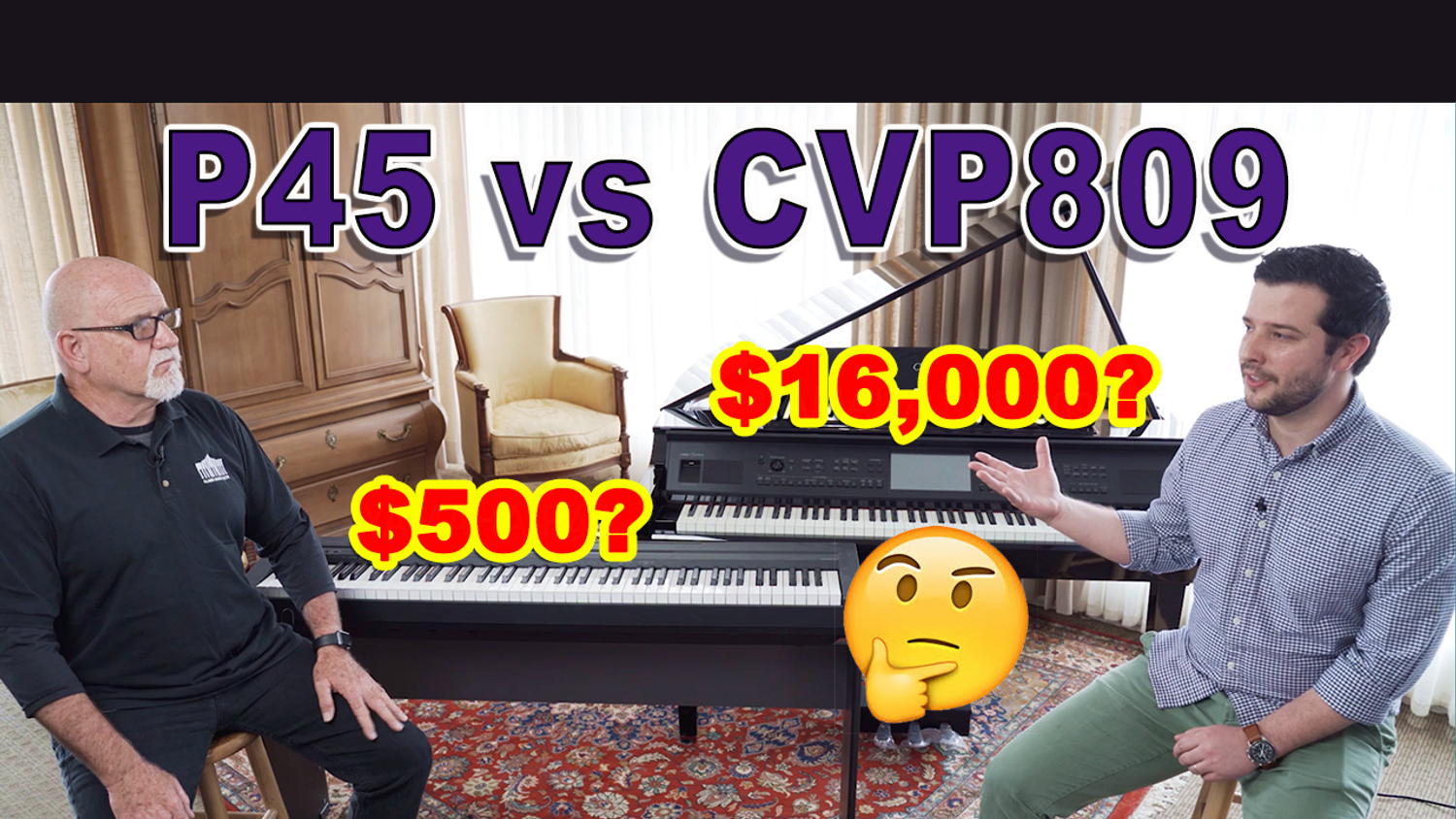 Yamaha P45 vs CVP809 - What's the Difference Between a $500 and a $16,000 Digital Piano?
