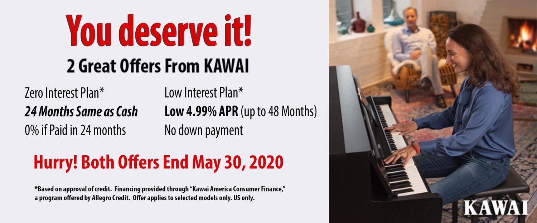 Spring Kawai Financing - No down Payment - Zero interest -