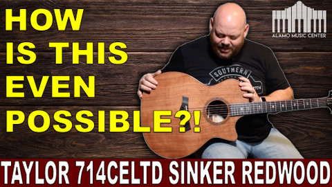 More Sinker Redwood from Taylor Guitars! 714ce Limited Edition
