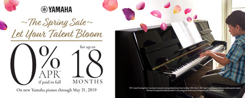 Yamaha ~ The Spring Sale ~ Let Your Talent Bloom