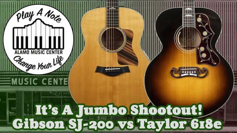 Gibson SJ 200 vs Taylor 618e - It's A Jumbo Shootout!