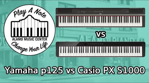 Yamaha p125 vs Casio PX S1000 - Digital Pianos Under $600 Battle it Out!