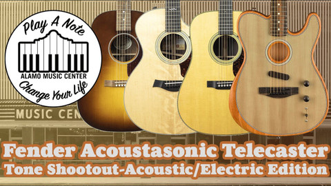 We compare the Acoustasonic Telecasters modeled sounds with the real thing!