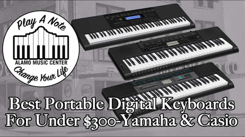 Best Portable Digital Keyboards For Beginners Under $300 - Yamaha and Casio Buyer's Guide