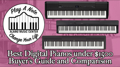 2019's Best Digital Pianos Under $1500 -  Buyer's Guide and Comparison - Yamaha and Casio