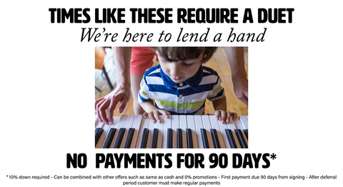 No Payments for 90 Days! - 0% Interest rates